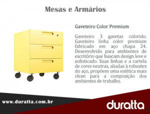Gaveteiro color premium